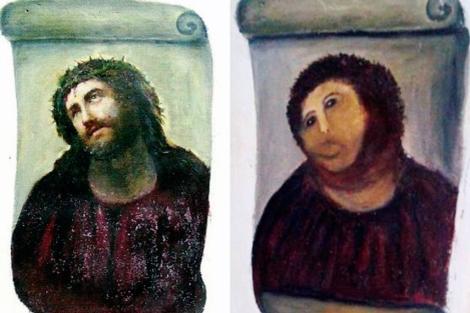 La restauración del Ecce Homo del Campo de Borja no deja de generar polémica, pero parece que la principal, es la naturaleza del repinte con el que la artista Cecilia […]