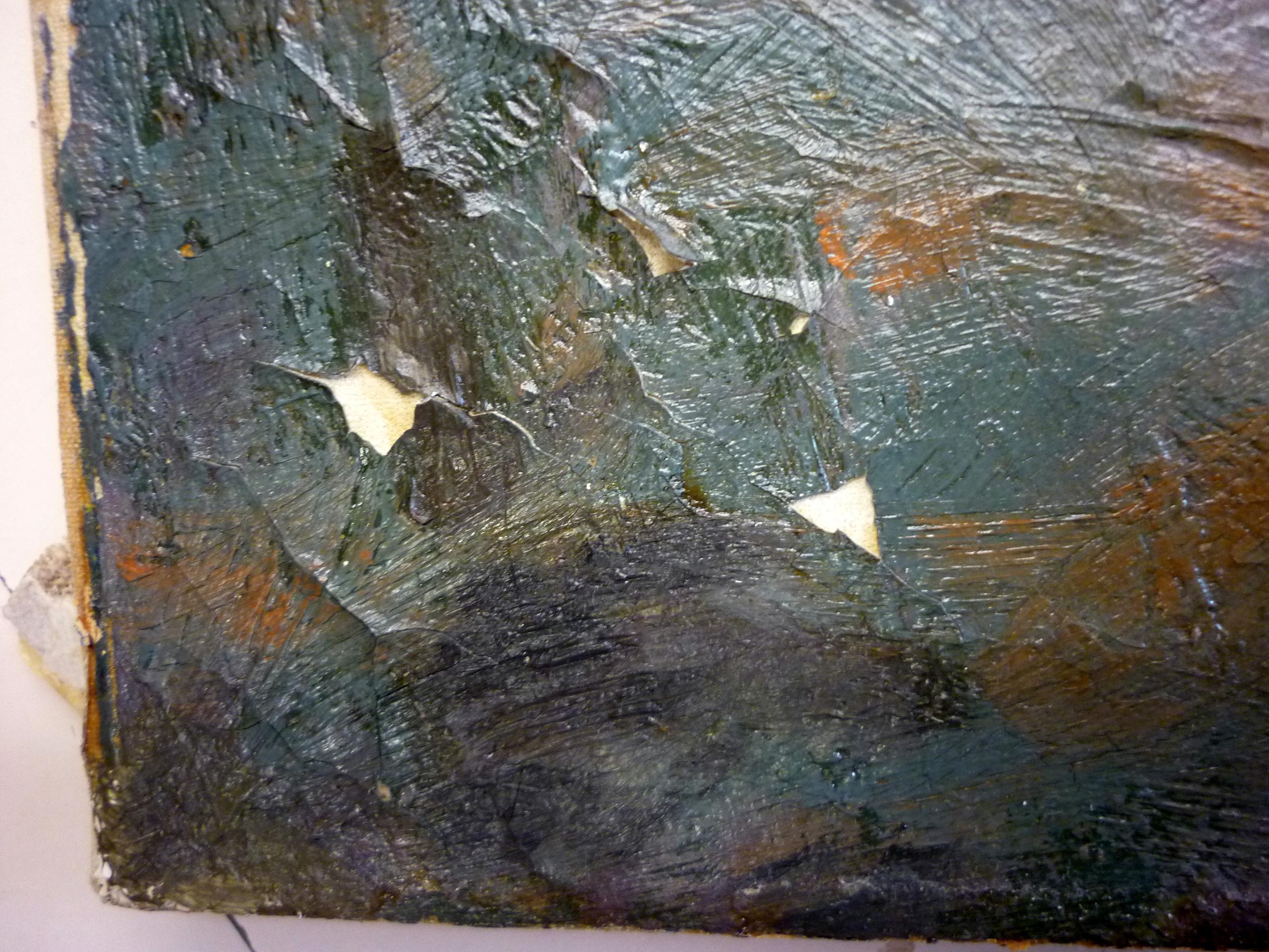 Restauraci n de una pintura al leo sobre lienzo de lluis - Pintura para craquelar ...