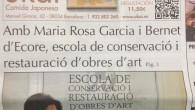 En el número de septiembre de la revista La Fada de Sarrià, podéis encontrar la entrevista realizada a la d